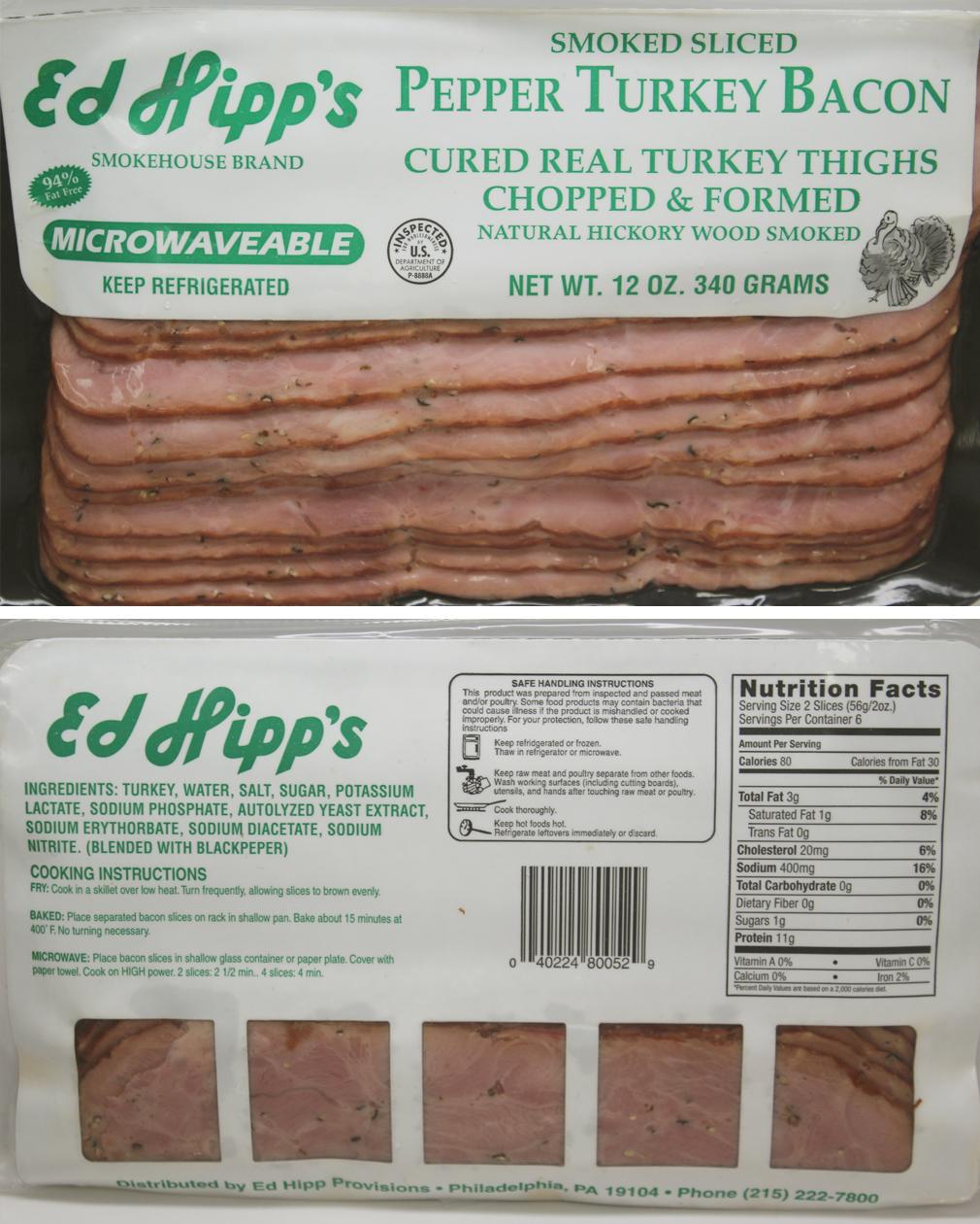 Turkey Bacon Nutrition Facts Erball Nutrition Ftempo