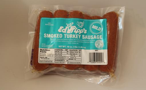 Ed Hipp's Smoked Turkey Mild Sausage